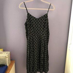 Women's Black Patterned Dress